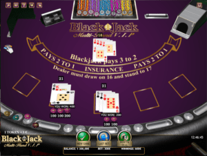 Black Jack Multihand VIP Slot Machine Online Gratis
