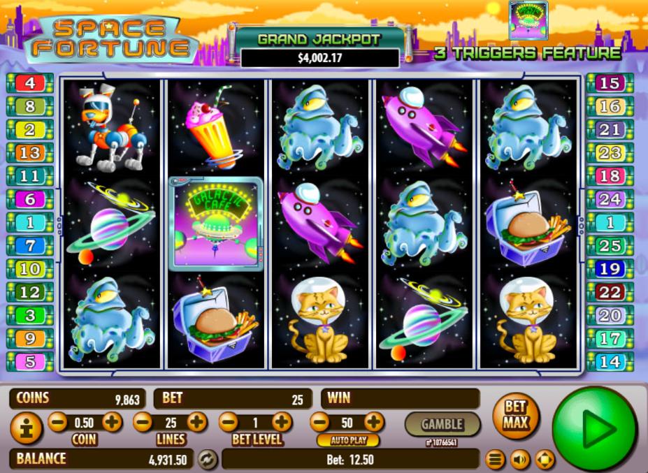Slot machine space