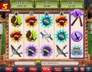 Slot Machine5 NinjasGratis Online