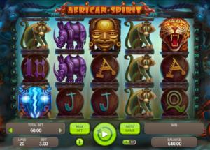 Slot MachineAfrican SpiritGratis Online