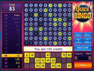 Quick BingoSlot Machine Online Gratis