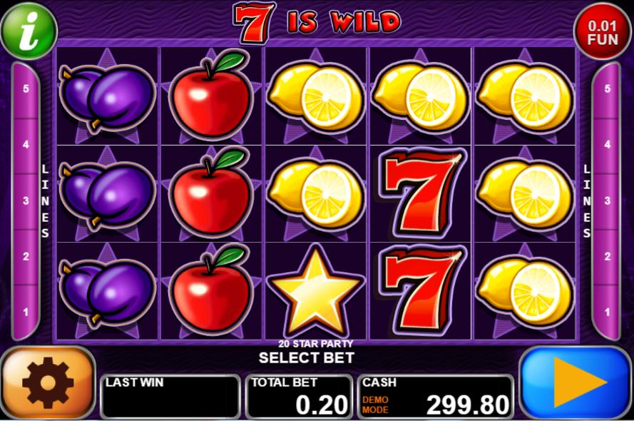 Giochi Slot 20 Star Party Online Gratis