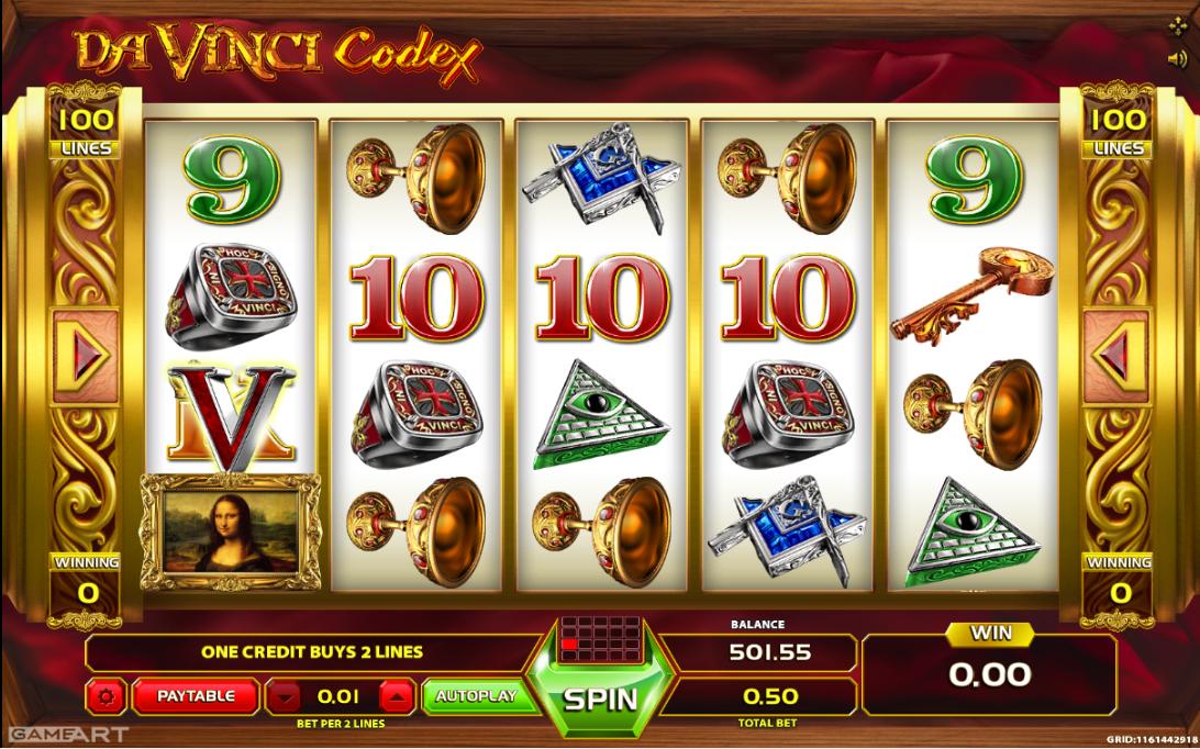 Leonardo da vinci slot machine