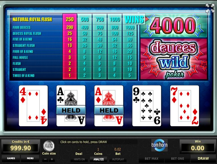 Giochi gratis di poker slot machine