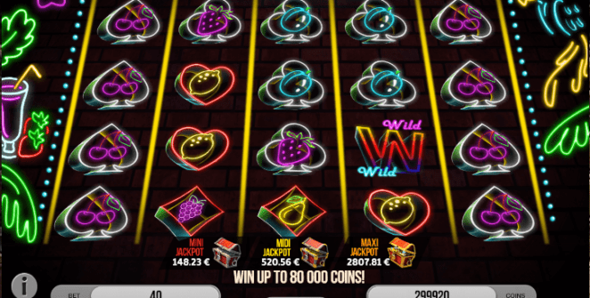 Slot Machine Fruits of Neon Gratis Online