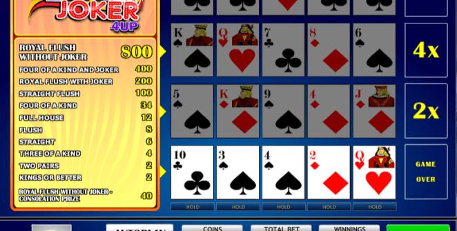 Joker Vegas 4UPSlot Machine Online Gratis