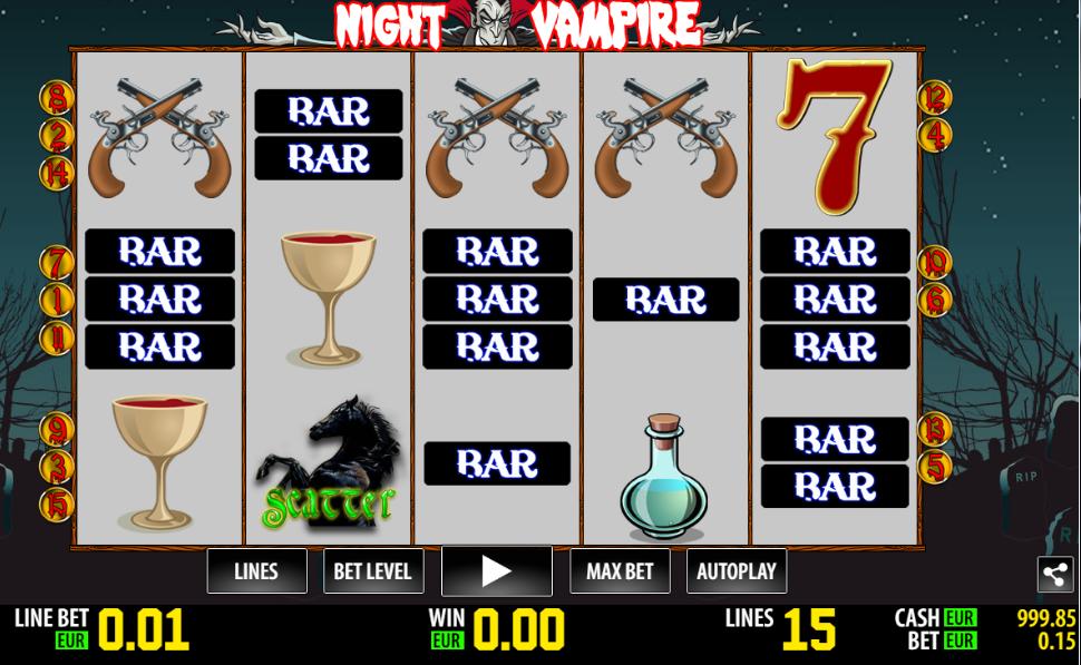 Slot machine night vampire