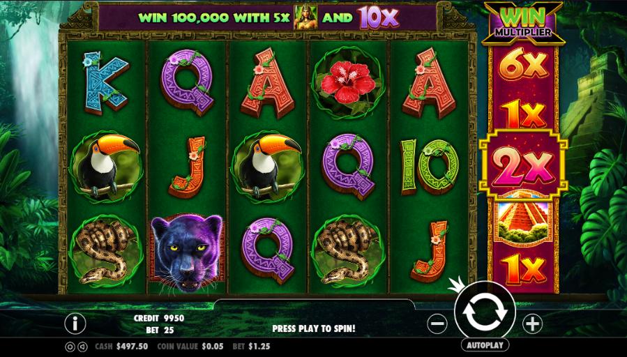 Slot machine giungla