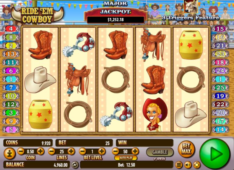 Ride Em Cowboy Free Play Slot Machine