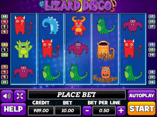 Lizard Disco Slot Machine