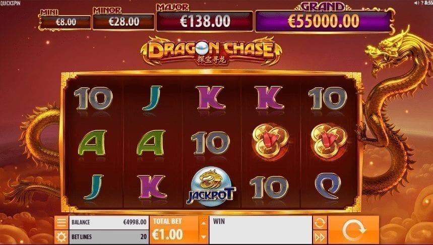 Slot Machine Dragon Chase Gratis Online