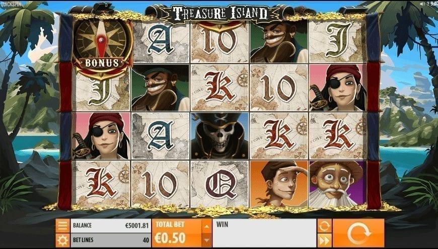 Giochi Slot Treasure Island QuickSpin Online Gratis