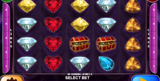 Slot Machine 40 Shining Jewels Gratis Online