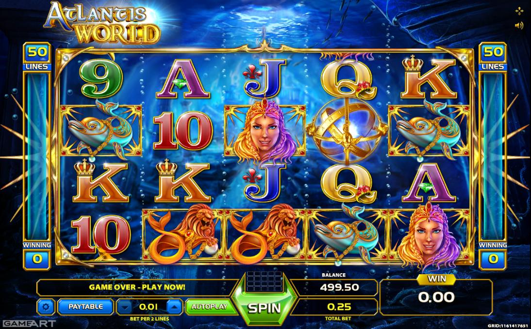 Atlantis World Slot Machine