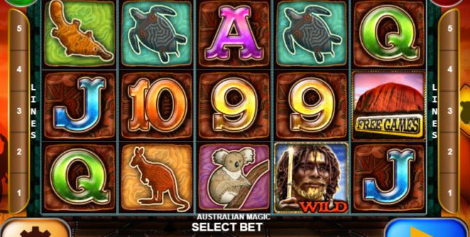 Slot Machine Australian Magic Gratis Online