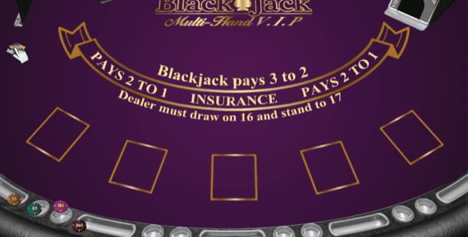 Black Jack Multihand VIPSlot Machine Online Gratis
