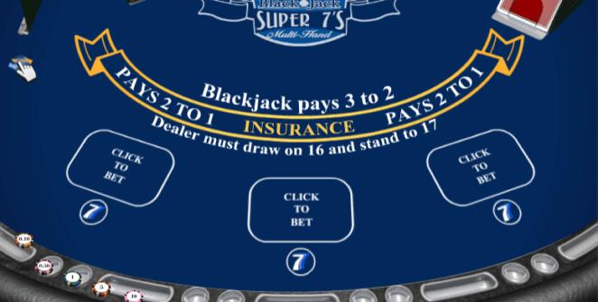 Giochi SlotBlackJack Super 7s MultihandOnline Gratis