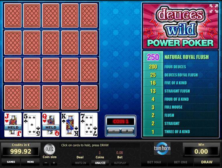 Spiele 4x Deuce Wild - Video Slots Online