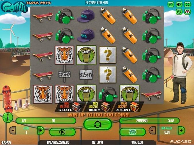 Giochi Slot Graffiti: Block Pays Online Gratis