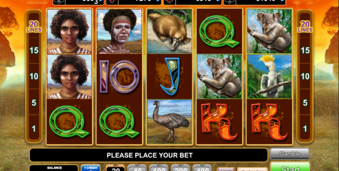 Slot Machine Kangaroo Land Gratis Online