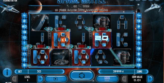 Slot Machine Space Battle Gratis Online