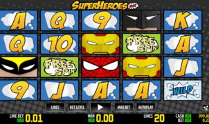 Super Heroes WM Slot Machine Online Gratis
