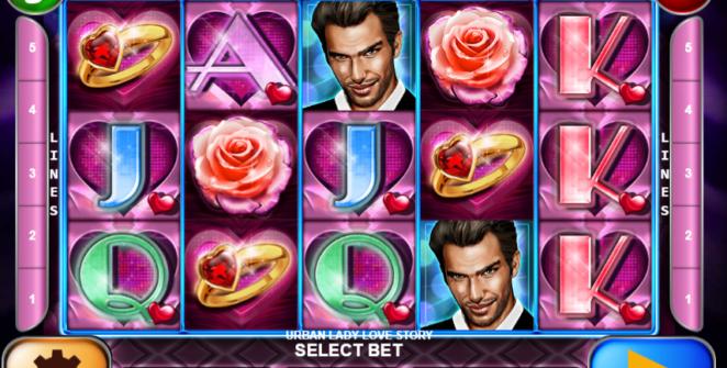 Slot Machine Urban Lady Love Story Gratis Online