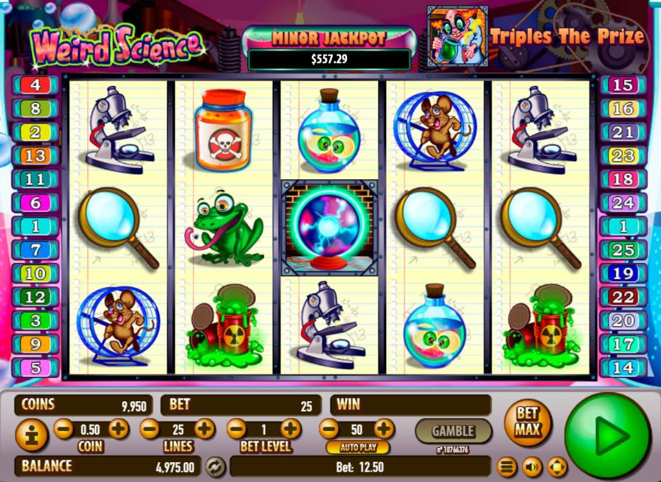 Weird Science Free Play Slot Machine